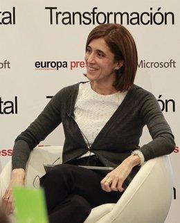 Pilar López (Microsoft) en el desayuno de Transformación Banca Digital