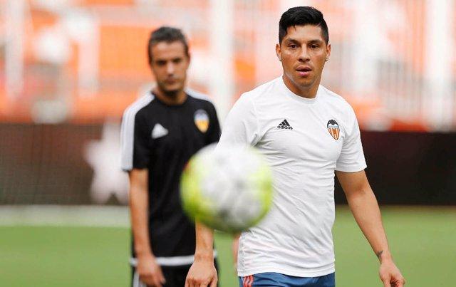 Enzo Suárez,Entrenamiento Valencia C.F 2015