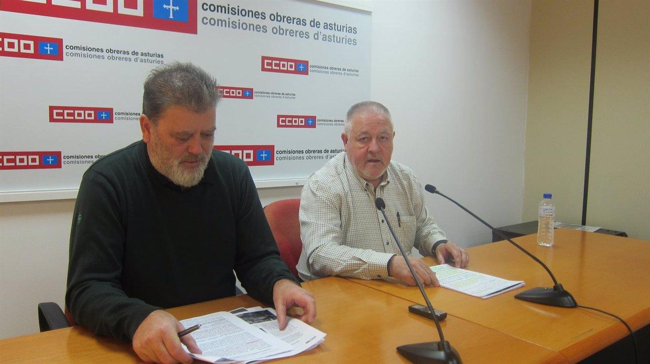 Gilberto García (izquierda) y Antonio Pino, en rueda de prensa.