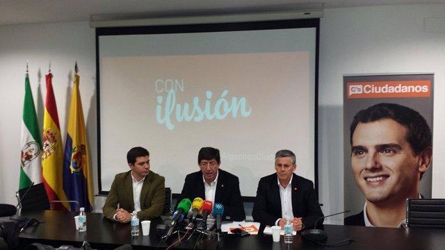 Juan Marín en rueda de prensa en Algeciras