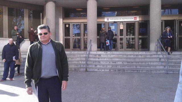 El mayordormo, a su salida de los Juzgados de Madrid