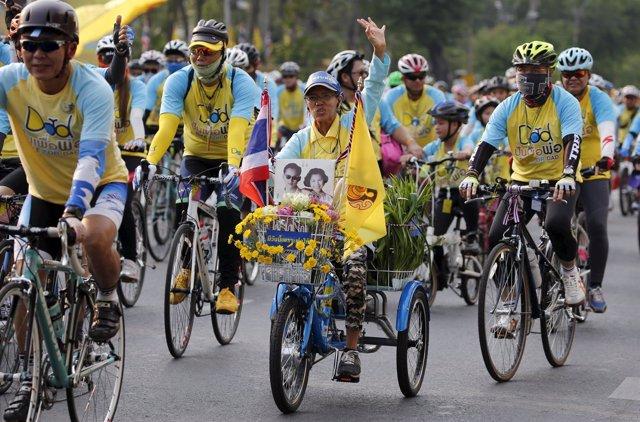"Marcha ""Bicicletas para papá"". Tailandia"
