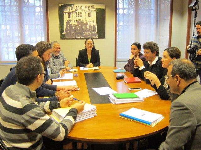 Reunión entre Podemos y PSOE
