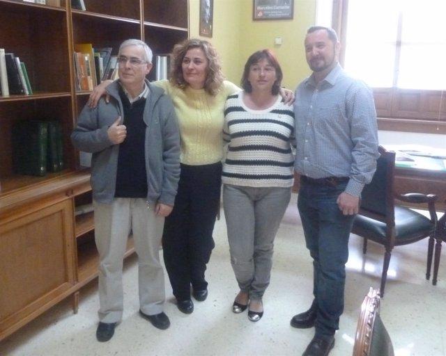 Reunión de Unidad Popular-IU con la Plataforma Toledo Limpio