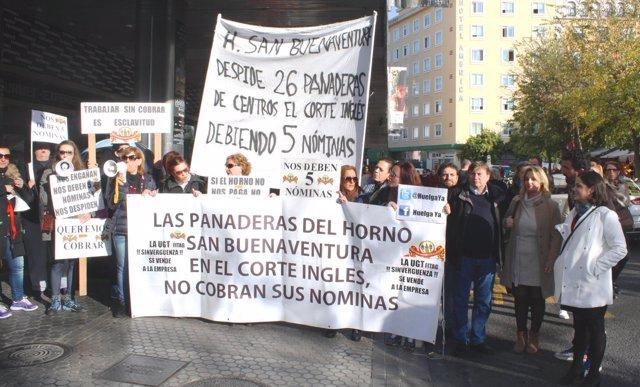 Protesta de la plantilla del horno.