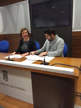 La viacealcaldesa, Ana Taboada, y el concejal de Economía y Empleo, Rubén Rosón.