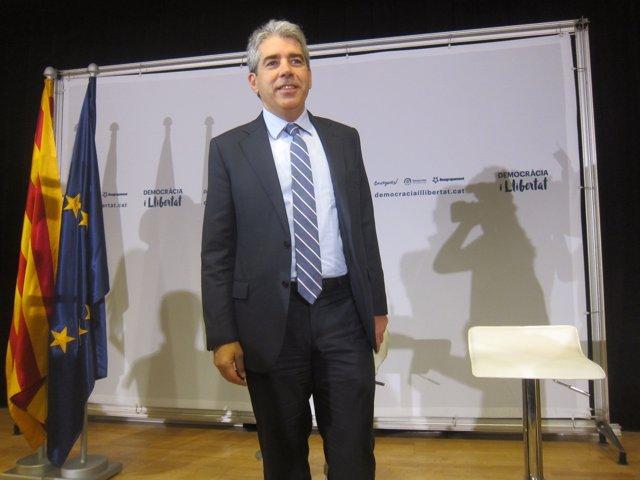 El candidato de Democràcia i Llibertat, Francesc Homs