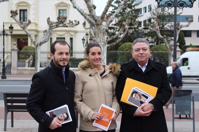 Los candidatos de Ciudadanos en El Espolón