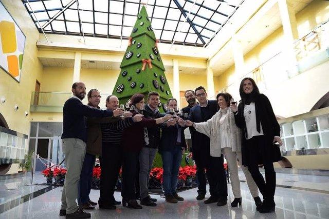 El Parque Joyero acoge el árbol de Navidad más lujoso y solidario de España