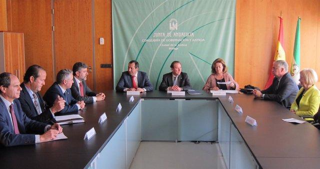 De Llera en una reunión en Málaga