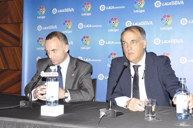Lapretra y Javier Tebas