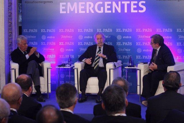 Juan Luis Cebrián, Felipe González y Lula Da Silva