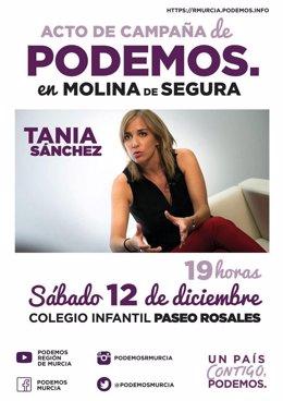 Cartel del acto de Podemos
