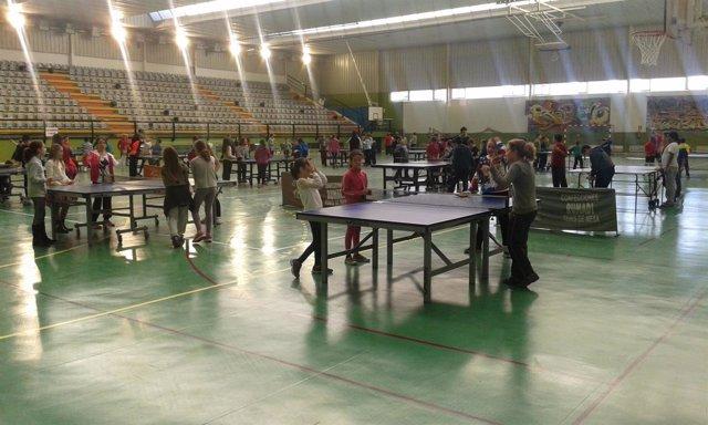 La Diputación promociona el tenis de mesa en Huércal de Almería.