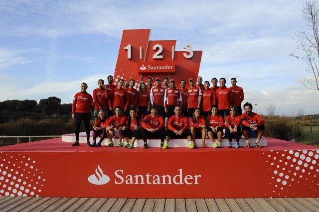 Vettel, Gené y Gutiérrez tras entrenar con voluntarios de la San Silvestre