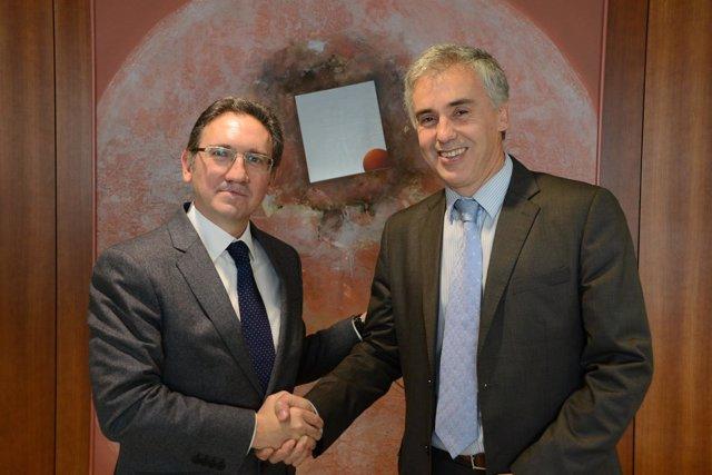 J.Giró (La Caixa) y B.Guillamon (BID)