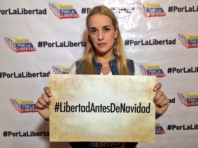 Lilian Tintori reclama la liberación de los presos políticos en Venezuela
