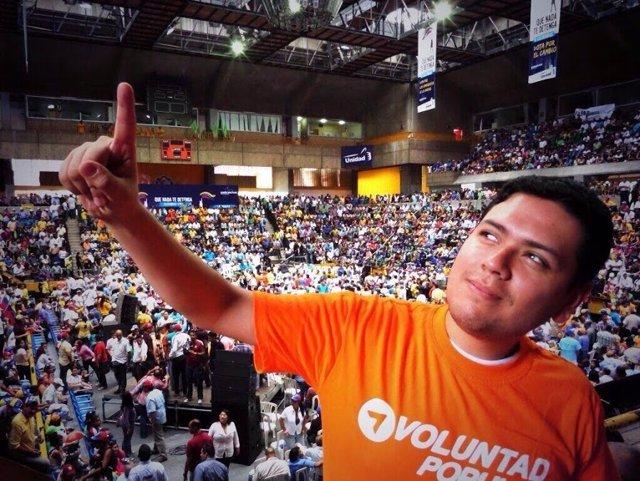 El opositor venezolano Rosmit Mantilla