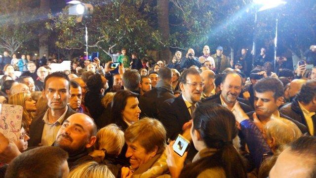 Rajoy en un mitin en Alicante