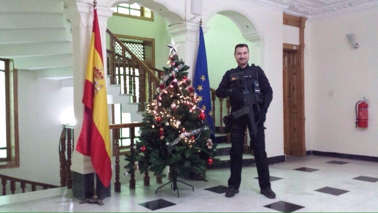 Isidro Gabino, agente fallecido en Kabul