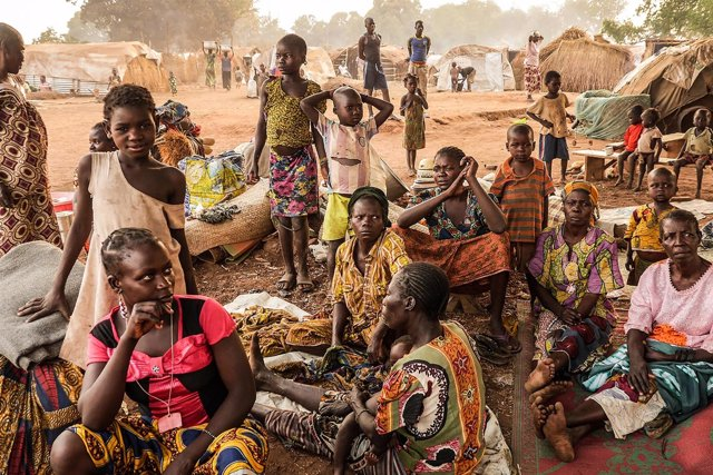 Campo de desplazados de Batangafo (República Centroafricana)