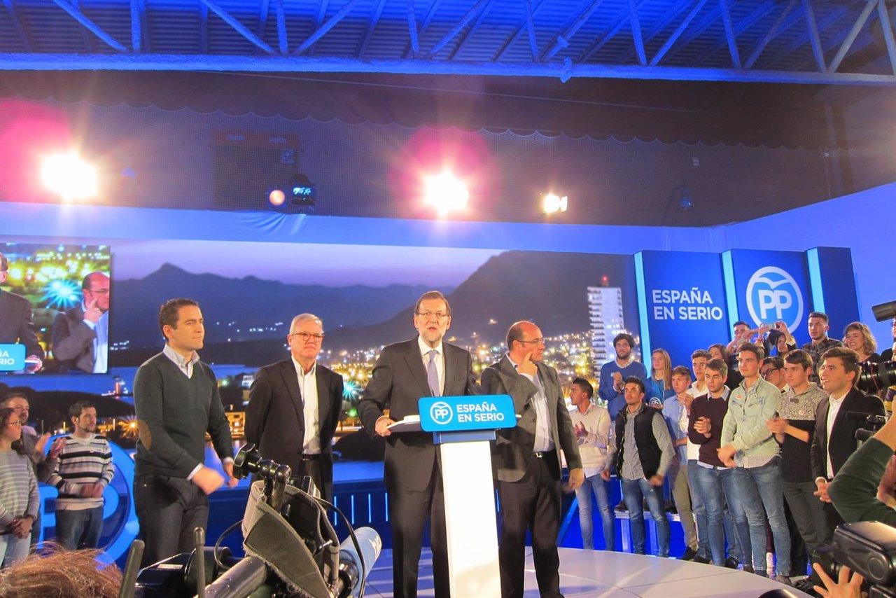 Mariano Rajoy en un acto en Murcia