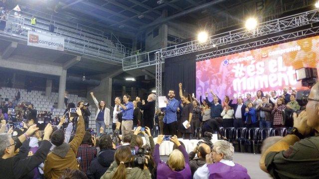 Pablo Iglesias, en el mitin en Alicante