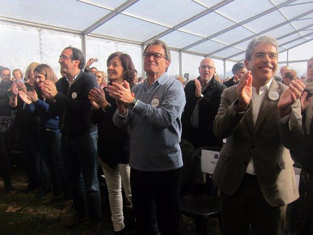 Artur Mas y F.Homs, en un acto de DL