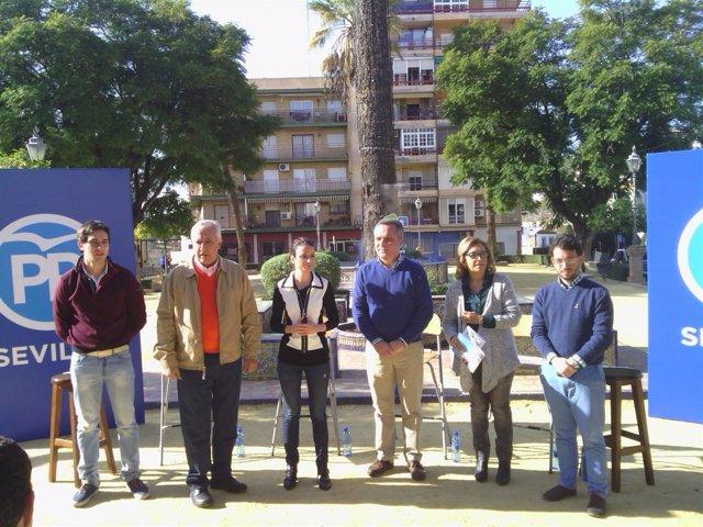Acto del PP en Alcalá de Guadaíra (Sevilla) con Andrea Levy y Javier Arenas