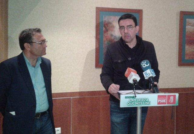 Mario Jiménez y Miguel Ángel Heredia PSOE