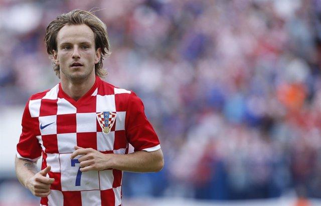 Ivan Rakitic con la selección de Croacia