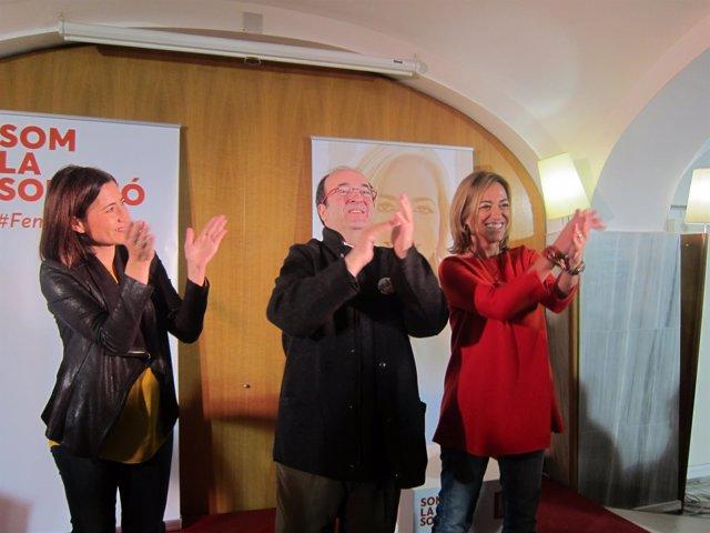 R.Sánchez, M.Iceta y C.Chacón, PSC