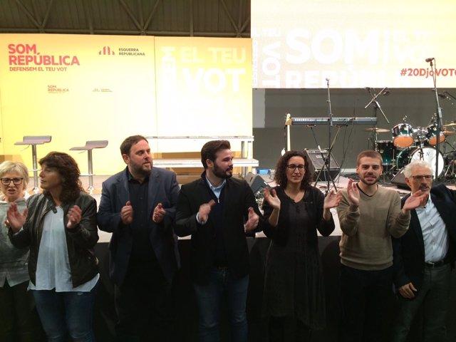 O.Junqueras,Marta Rovira,G.Rufián,Xavier Roger,Santi Vidal,Ester Capella,ERC