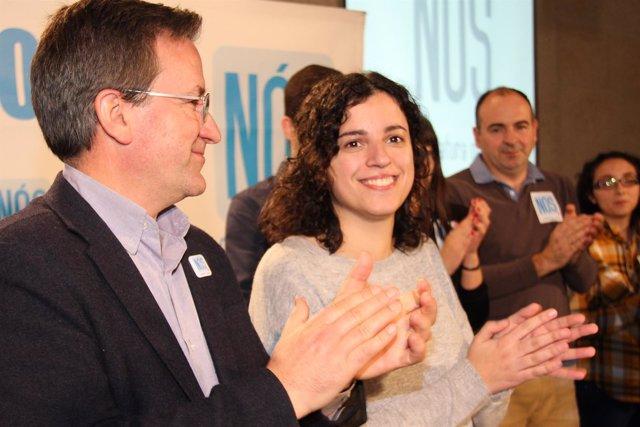 Mitin de Nós-Candidatura Galega en Allariz (Ourense).