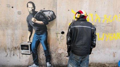 Francia protegerá el grafiti de Banksy en el que aparece Steve Jobs