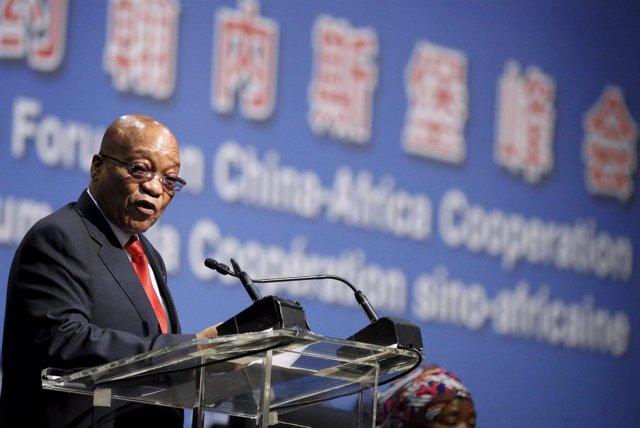 El presidente de Sudáfrica, Jacob Zuma