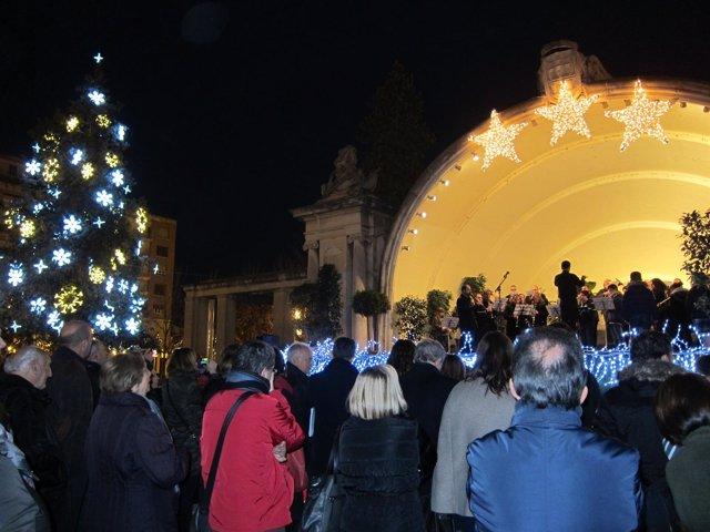 Encendido de las luces de Navidad en Logroño