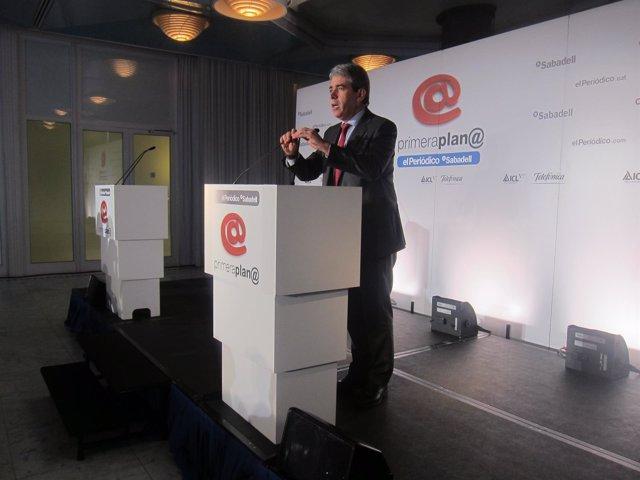 El candidato de Democràcia i Llibertat (DL), Francesc Homs