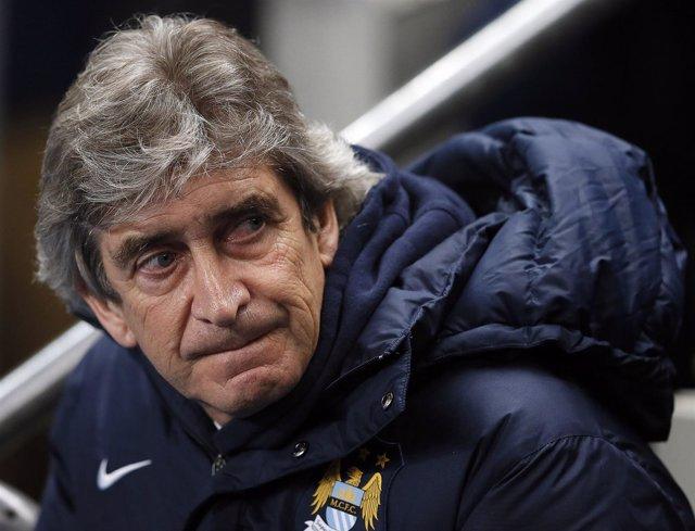 El entrenador del Manchester City, Manuel Pellegrini