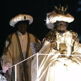 Rey Baltasar en la Cabalgata de los Reyes