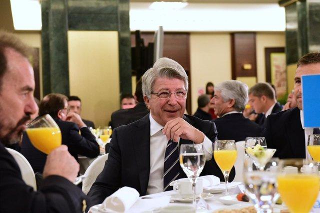 Desayunos Deportivos Europapress- Javier Tebas. Cerezo y Angel Torres