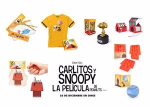 Pack de productos de Carlitos y Snoopy
