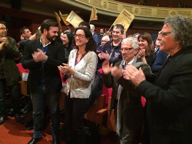 Gabriel Rufián, Marta Rovira, Santiago Vidal, Joan Tardà (ERC)