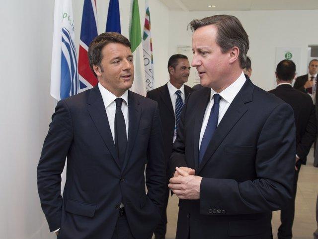 Matteo Renzi y David Cameron