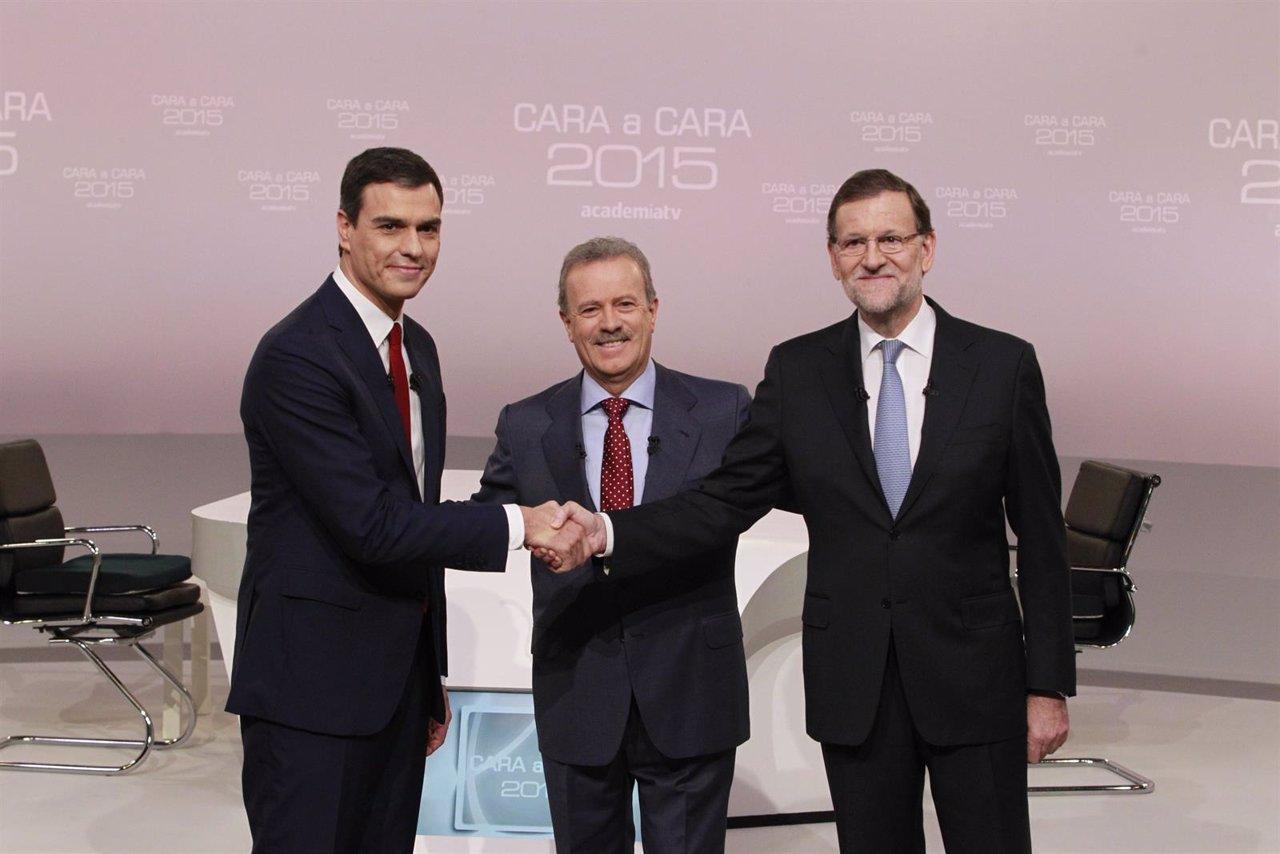 Debate entre Rajoy y Pedro Sánchez en la Academia de la Televisión