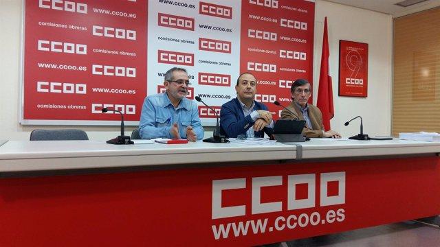 Rueda de prensa de CCOO sobre empleo en sanidad