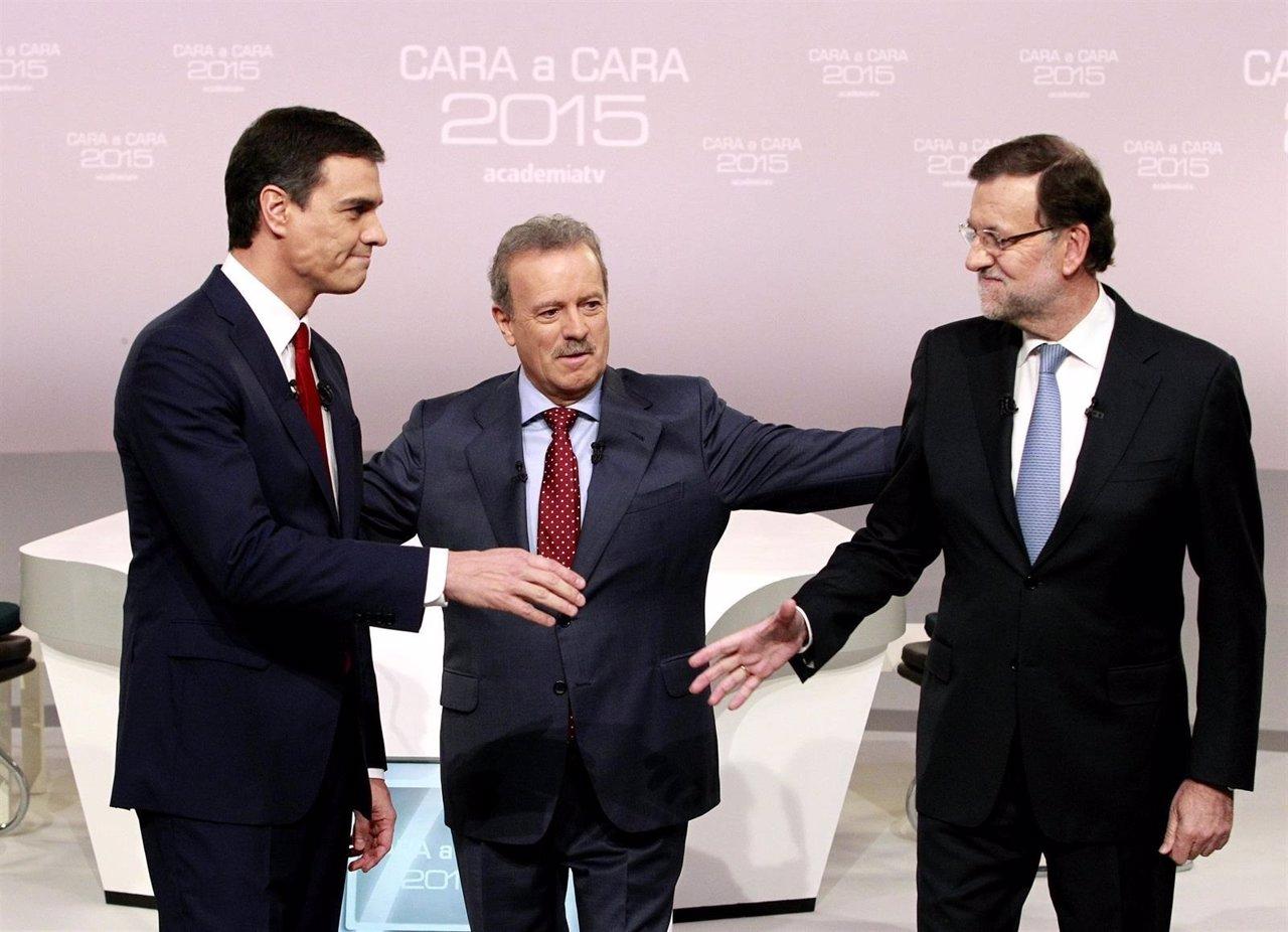 Debate Rajoy y Sanchez