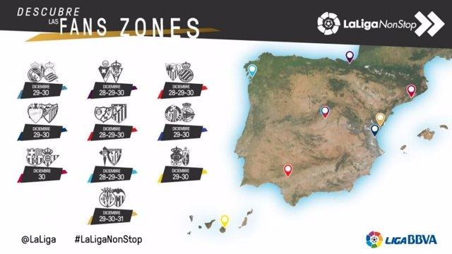 Fan zones de LaLiga para la última jornada del año