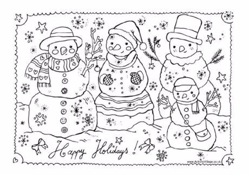 Dibujos De Navidad Listos Para Imprimir Y Colorear En Estas
