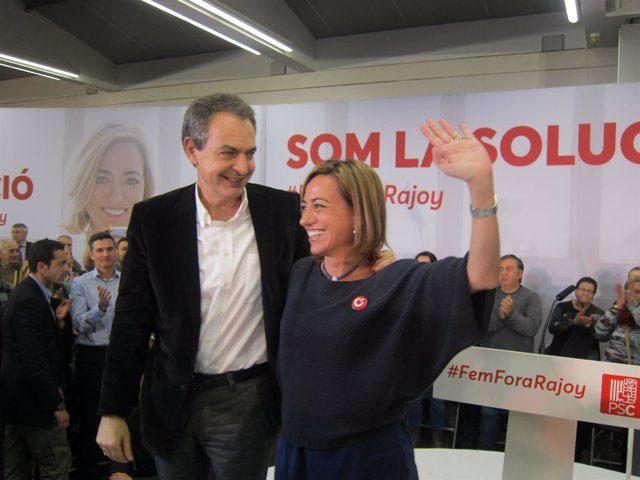 La candidata del PSC por Barcelona en las elecciones generales, Carme Chacón